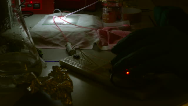 microfluidic device in laboratory