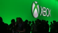 Microsoft Corp Xbox signage is displayed the E3 Electronic Entertainment Expo in Los Angeles California US on Wednesday June 17 2015 Shots Various...