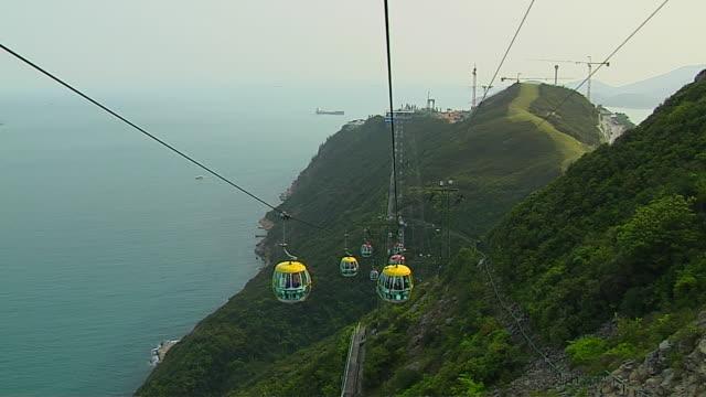 Mid Shot Cable Car Hong Kong Kwangtung China