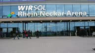 Mid Shot general views of the Wirsol Rhein Neckar Arena prior to the Bundesliga match between 1899 Hoffenheim and Werder Bremen NO