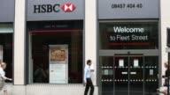 Mid Shot HSBC Bank Fleet Street Branch