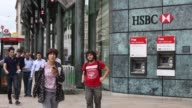 Mid Shot HSBC cashpoints and branch