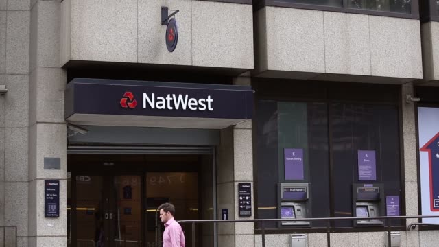 Mid Shot Natwest Bank entrance