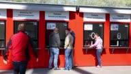 Mid shot of ticket offices at Leverkusen stadium Bayer 04 Leverkusen v TSG 1899 Hoffenheim Bundesliga Editorial Video Footage at BayArena on April 20...