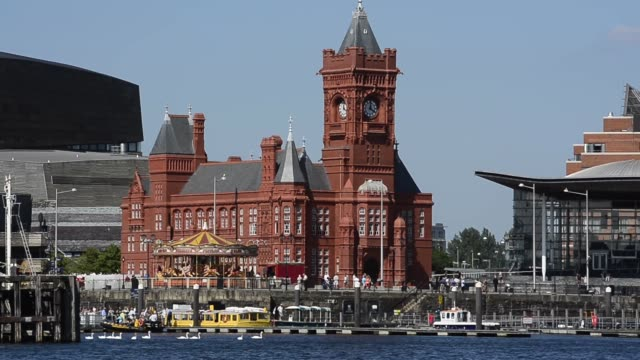 Mid Shot Pierhead Building at Cardiff Bay