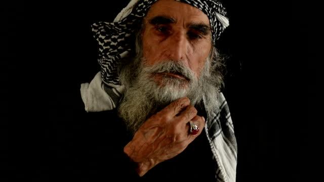 Mellanöstern senior mannen