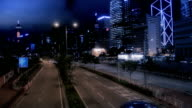 Midnight Quiet Road In City