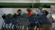 Voting underway USA North Carolina Representative of local church offering rides to the polls service calling people to check they are ready and...