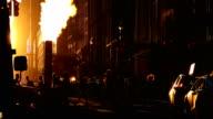 Midtown Manhattan Sunset Street View
