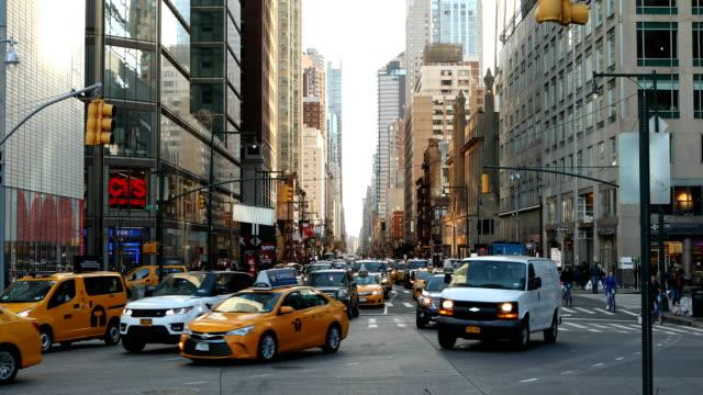 Midtown Manhattan verkeer scène