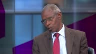 Human rights violations in Eritrea described as 'systematic and widespread' ENGLAND London INT Yemane Ghebreab LIVE STUDIO interview SOT