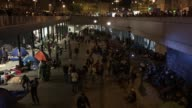 Migrants at Keleti Station on September 1 2015 in Budapest Hungary Last summer thousands of refugees and migrants were using the socalled 'Balkans...