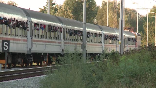 Migrants continued to pour into Europe on Sunday with some 1200 arriving at Botovo train station in Croatia before continuing by foot into Hungary