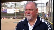 Mike Gatting and Ray Meagher promote Kwik cricket and comment on the Ashes ENGLAND London EXT Mike Gatting and Ray Meagher playing kwik cricket Mike...