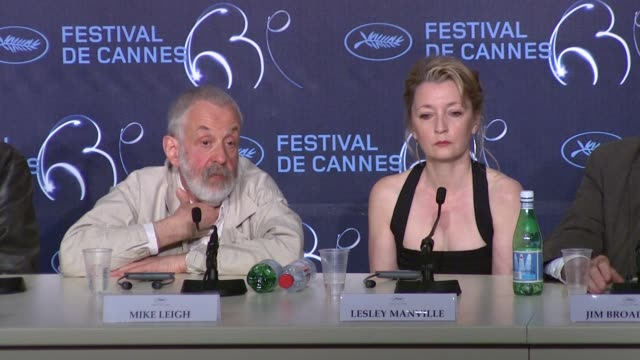 Mike Leigh on if film is an 'endangered species' at the Another Year Press Conference Cannes 2010 Film Festival at Cannes