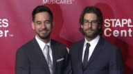 Mike Shinoda and Rob Bourdon at the 2016 MusiCares Person of The Year Honoring Lionel Richie at Los Angeles Convention Center on February 13 2016 in...