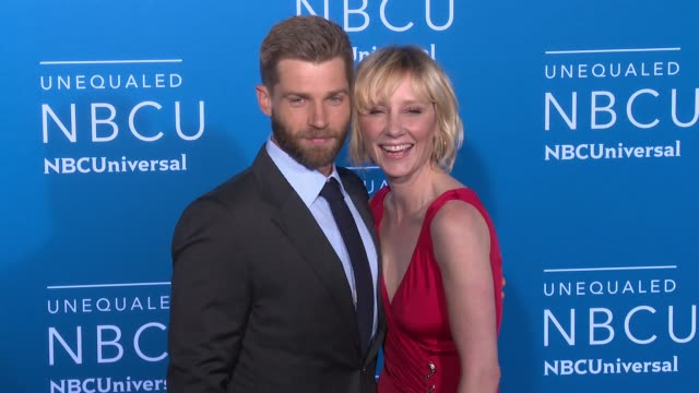 Mike Vogel and Anne Heche at NBC Universal Networks Upfronts 2017 at Radio City Music Hall on May 15 2017 in New York City
