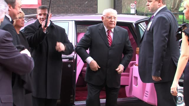 Mikhail Gorbachev arrives for Gorby 80 at The Royal Albert Hall Mikhail Gorbachev at Royal Albert Hall on March 30 2011 in London England