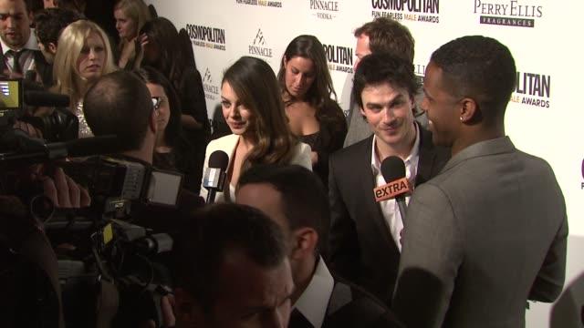 Mila Kunis and Ian Somerhalder at the Cosmopolitan Magazine's Fun Fearless Males Of 2011 at New York NY