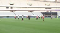 AC Milan held a training session in Shanghai on Wednesday on the eve of their International Champions Cup match against Real Madrid