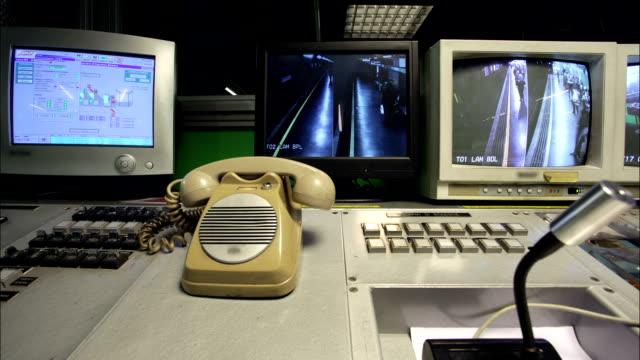 Milano Underground Surveillance Monitors Timelapse