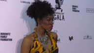 Milauna Jackson at The Wearable Art Gala at California African American Museum on April 29 2017 in Los Angeles California