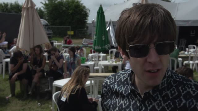 INTERVIEW Miles Kane on Glastonbury at Glastonbury at Worthy Farm on June 28 2013 in Glastonbury England