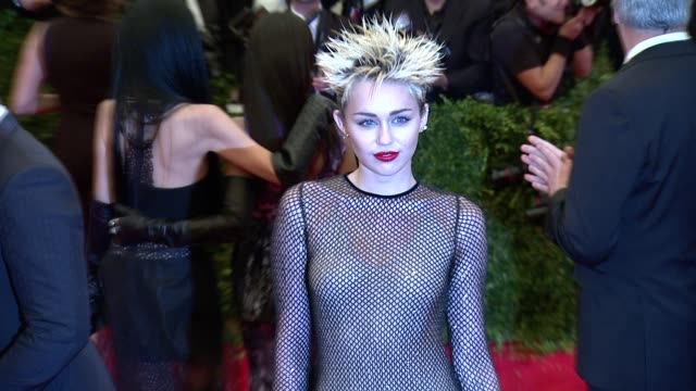 Miley Cyrus at 'PUNK Chaos To Couture' Costume Institute Gala at Metropolitan Museum of Art on May 06 2013 in New York New York