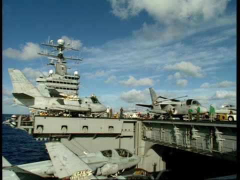 MS, Military airplanes on deck of aircraft carrier