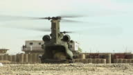 WS Military helicopter taking off / Musa Qala Helmand Province Afghanistan