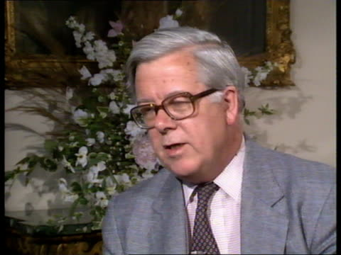 Geoffrey Howe interview ENGLAND London Sir Geoffrey Howe interview SOF