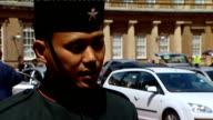 interviews ENGLAND London Buckingham Palace EXT Acting Sergeant Dipprasad Pun Royal Gurkha Rifles interview SOT discusses his Conspicuous Gallantry...