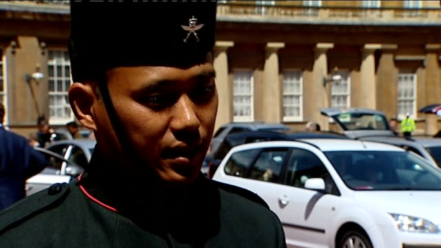 interviews ENGLAND London Buckingham Palace EXT Acting Sergeant Dipprasad Pun Royal Gurkha Rifles interview SOT discusses his Conspicuous Gallantry...