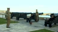 Military Personnel fire a cannon in Malta