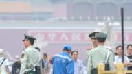Military policemen at the Tiananmen Square, Beijing, hina