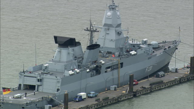 MS HA Military ship in naval base, Wilhelmshaven, Lower Saxony, Germany