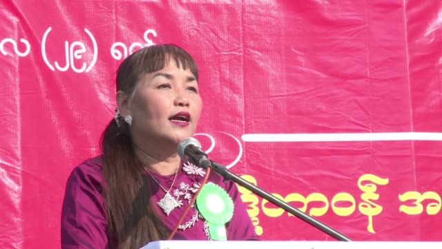 Military songs rang out across downtown Yangon Sunday as tens of thousands rallied in defence of Myanmar's army an institution accused by the global...