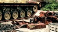 Military Tank  old crash