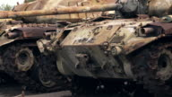 Militaire Tank oude crash