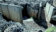 Military trenches
