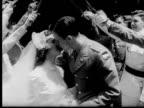 1958 B/W MONTAGE Military weddings, USA, AUDIO