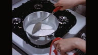 CU Milk boiling in cooking pan / United States