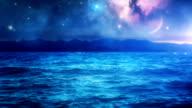 Milky Way Galaxy over sea