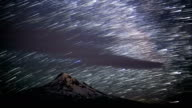 Milky Way over Mt. Hood Abstract Star Trails Night Time Lapse