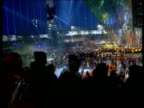 Final attendance figures released LIB Dome ceiling during final show TILT DOWN audience watching performance as coloured confetti falling around GV...