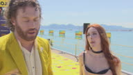J Miller Kate Gorney on his parasailing skills the movie his character saying yes to the film the success of the Lego movie at 'The Emoji Movie'...