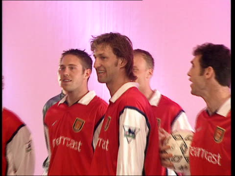 Millwall FA Cup song remains unreleased due to rights issues LIB London INT Arsenal team recording their FA Cup song with Tony Adams Martin Keown...