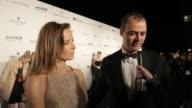 INTERVIEW Milutin Gatsby and Carolina Parsons on amfAR at 2015 amfAR Hong Kong gala at Shaw Studios on March 14 2015 in Hong Kong