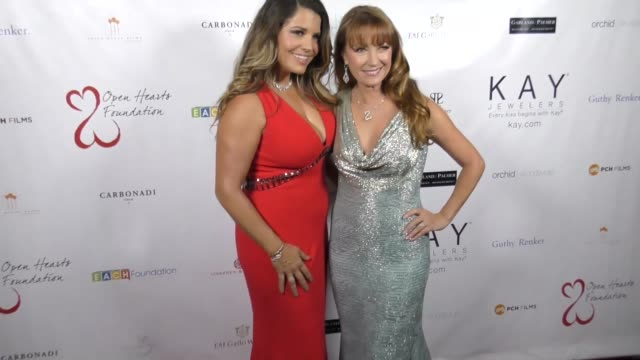 Mindy Burbano and Jane Seymour at The 2017 Open Hearts Gala at SLS Hotel on October 21 2017 in Beverly Hills California
