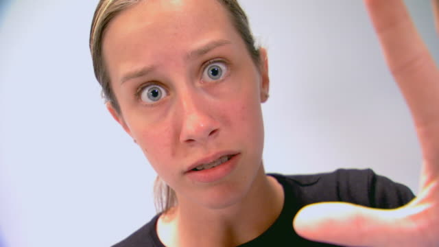 Mine With Scared Expression On Face Stock Footage Video ...